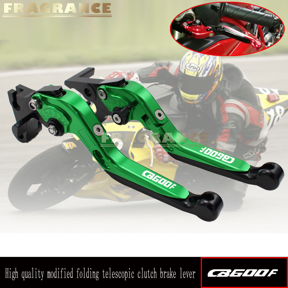 Motorcycle Folding Extendable CNC Moto Adjustable Clutch Brake Levers For Honda CB600F CB <font><b>600</b></font> F <font><b>Hornet</b></font> 2007-2013 <font><b>2008</b></font> 2009 image