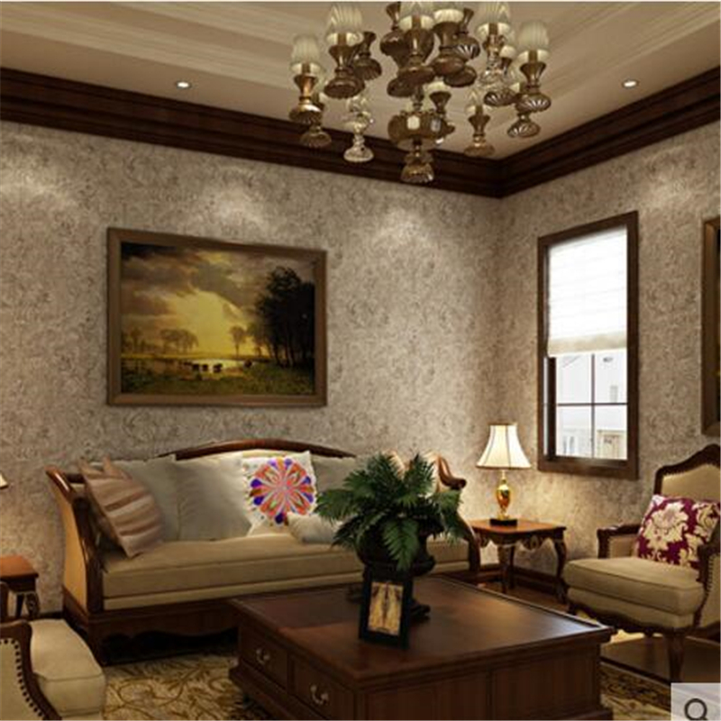 ФОТО beibehang High-grade classical luxury European-style non-woven wallpaper Retro do the old American-style dark living room mural