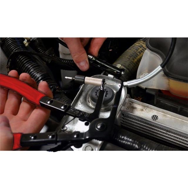 3 sztuk Auto/naprawy samochodów wygięty nos zacisk do węża szczypce typ kabla przewód elastyczny długi zasięg wąż szczypce chwytak narzędzia ręczne zacisk rury zestaw
