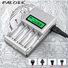 PALO C903W 1.2V 4 Slots LCD Display li-ion Battery Charger for AA/AAA NiCd NiMh Rechargeable Batteries