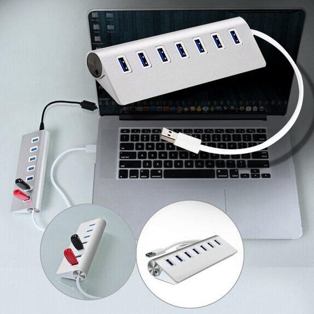 1 Unid de Alta Velocidad de 7 Puertos USB 3.1 Tipo C para USB 3.0 Hub De Aluminio Portátil para Macbook EM88