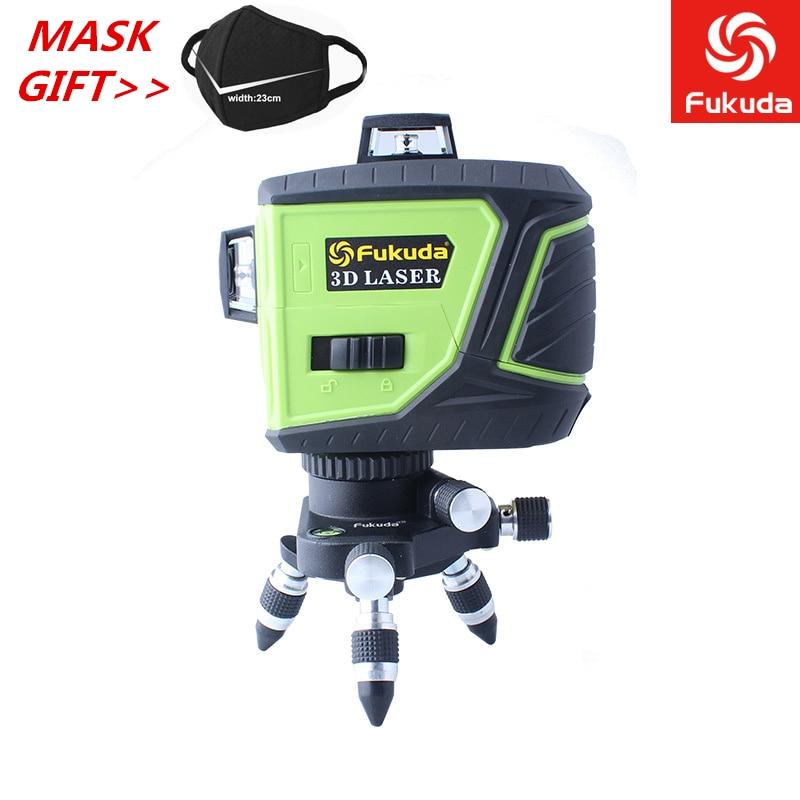 3D MW-93T-2 12 Linhas Linha de Nível A Laser Poderoso Feixe de Laser Azul Verde Vermelho Auto-Nivelamento 360 Horizontal E Vertical cruz
