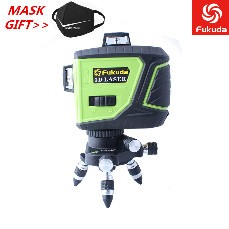 3D MW-93T-2 12 Lines Red Green Blue Laser Level Powerful Laser Beam Line Self-Leveling 360 Horizontal And Vertical Cross