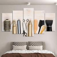 AtFipan HD Printed salon Beauty Painting On Canvas Room Poster 5 Pieces Unframed Wall Art Pictures Fashion Mouldar Pictures