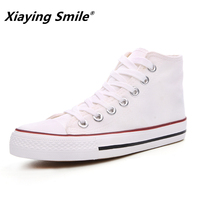 Four Seasons The Basic New Paragraph High Upper Canvas Shoes Lovers Leisure Men And Women