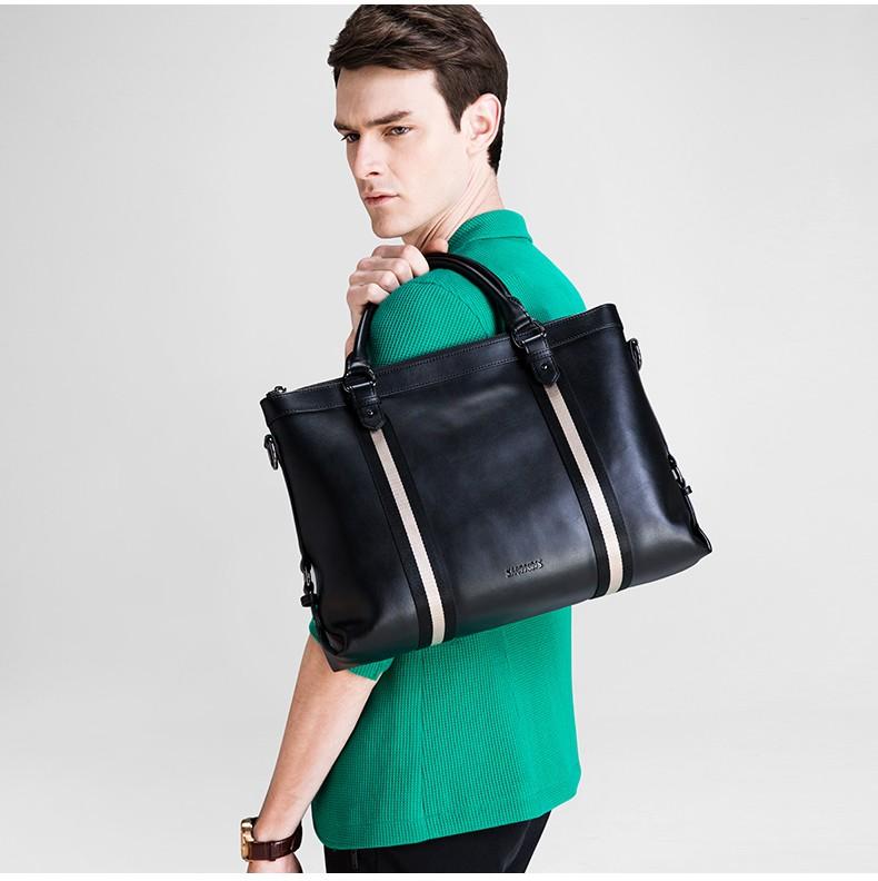 SAMMONS men genuine leather briefcase 1