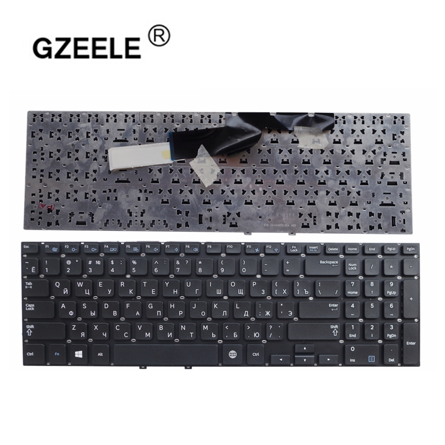 GZEELE Russian Keyboard For Samsung NP550P5C 550P5C-S01 550P5C-S02 550P5C-T01 NP355E5X 355E5X 355V5X NP355V5X E5C V5C Black RU