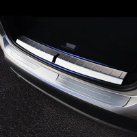 Stainless Steel Rear Guard Bumper Cover Trim Car Trunk Door Sill Plate Decoration Decals For BMW F48 X1 2016 2018