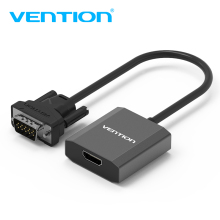 Vention VGA to HDMI Converter Cable Analog AV to Digital Converter Adapter with Audio 1080P for PC Laptop to HDTV Projector hot av capture analog to digital video recorder converter with av hdmi output to for micro sd tf card