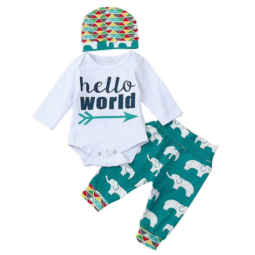 76963919532 HOT DEAL ~ Newborn Infant cute Baby Boy Letter Romper Tops+Pants+Hat ...
