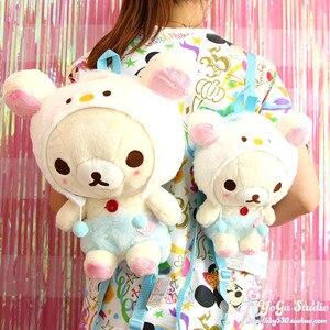 Image 5 - קריקטורה חמוד Rilakkuma דוב בפלאש תרמיל כתף תיק להירגע דוב ילדי בית הספר תיק עבור בנות ילדים יום הולדת מתנות