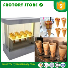 Promotion: free shipping to door  electric commercial cone pizza machine pizza display case for sale