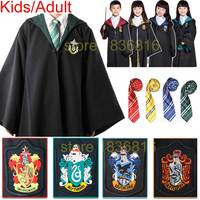 Gryffindor Costume Cosplay Robe Cloak Slytherin Hufflepuff Ravenclaw Robe For Adult Kid For Halloween Film Harri