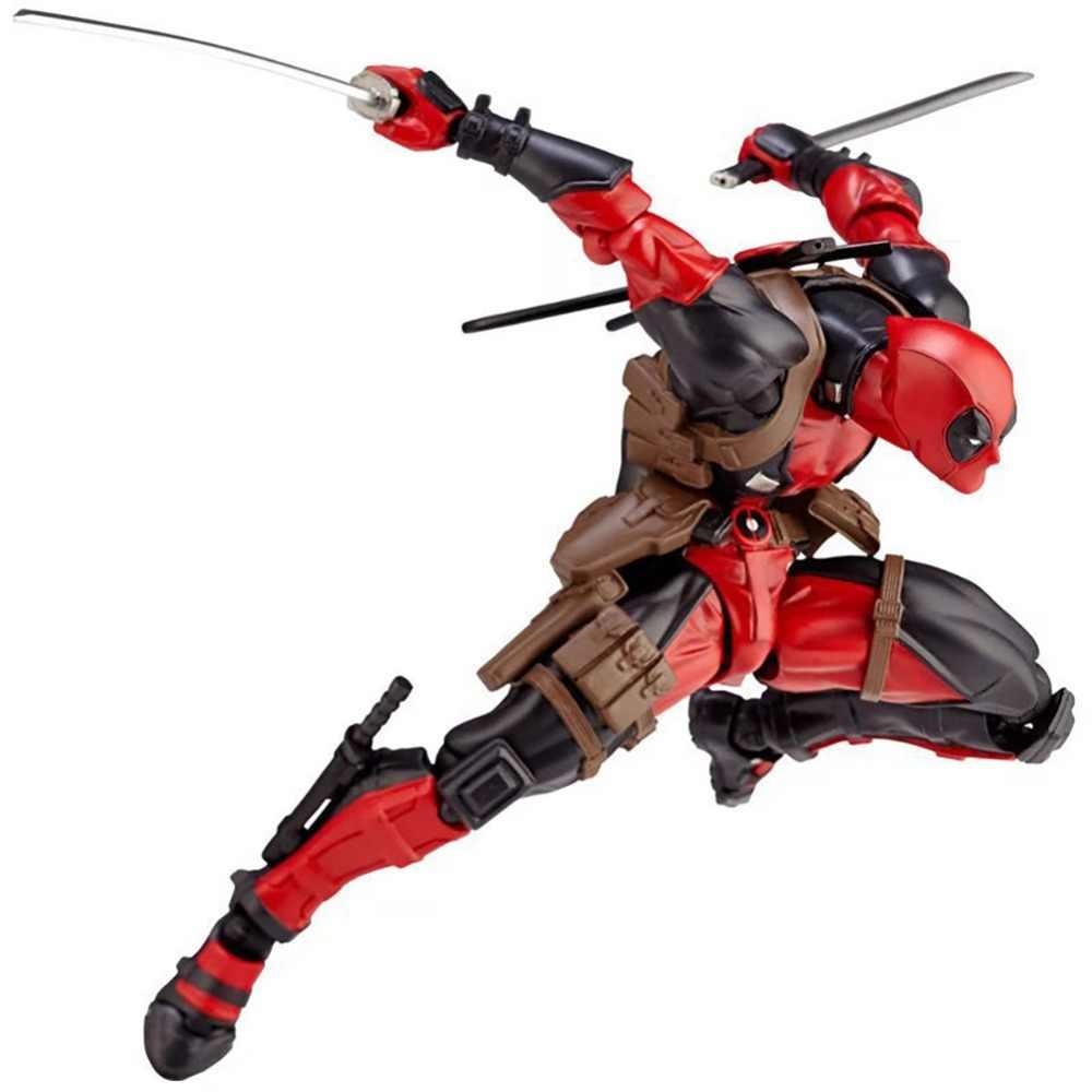 Modelo de 15 centímetros Deadpool Marvel super heroes figuras de Ação PVC X-homem arma corpo coleção de bonecas DIY brinquedos Educativos presentes clássicos