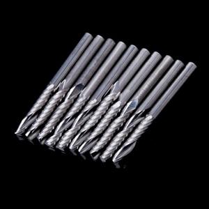 Image 5 - Fresa espiral de carburo de una flauta, vástago de 4mm, 10 Uds., fresa brocas de rebajadora de CNC 22mm CEL