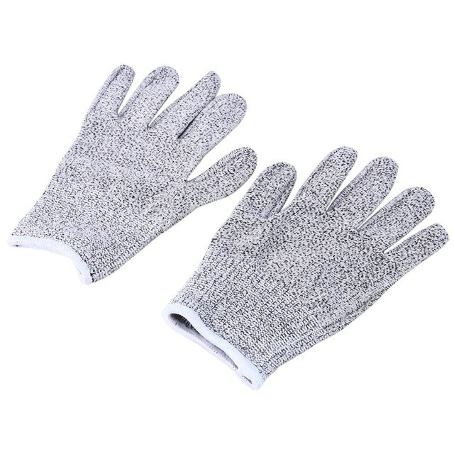 YOUTHINK 1 Pair Garden Gloves Safety Cut Proof Stab Resistant Elastic Fiber Mesh Butcher Gloves Breathable Security Gloves S M L