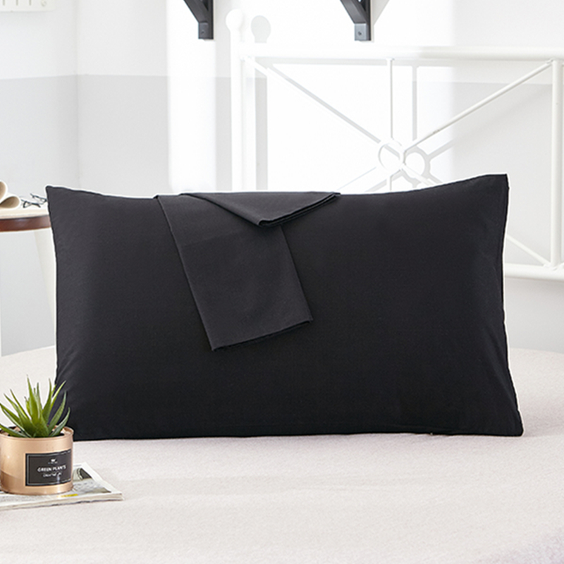 1Pcs 100% Cotton Pillow Case Soft High-grade Encryption Fabric Pillowcase Various Specifications Solid Color Pillow Covers