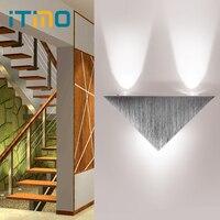 ITimo Triângulo Lâmpada de Parede LEVOU Luz Sala de estar Romântica Iluminação Moderna Moda de Decoração Para Casa Ao Ar Livre Indoor Lâmpada Partido