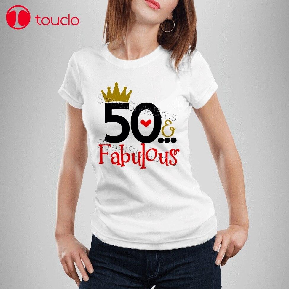 2019 Mujer Fabuloso Cumpleaños Madre Mamá Amigo 50 Años De Señoras Camiseta N8PXOkn0w