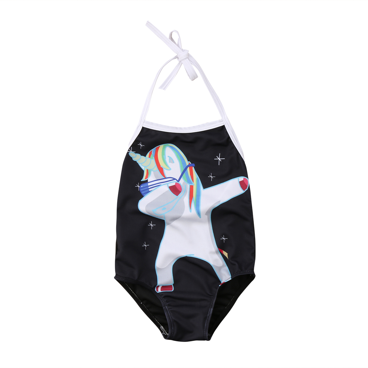 Cartoon Unicorn Baby Girls Swimwear One pieces Bodysuit for children Girls Swimsuit Beac ...