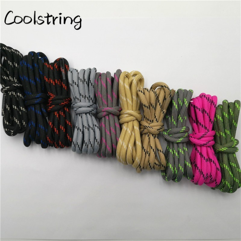 One Pair Shoelaces Hiking Bootlaces Long Strong Round Walking Boot Laces Hot
