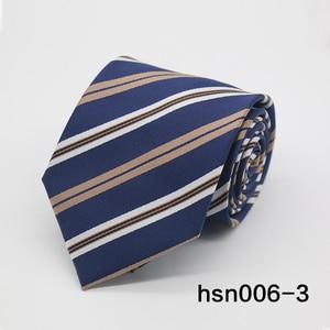 Image 4 - Gravatá Nam Sọc tie 8 cm skinny Buộc các Business Wedding Party polyester Cà Ra Vát Ties For Men