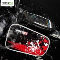 WOSAWE PVC Bisiklet Çerçeve Ön Baş En Tüp içinde 6.0 Için Su Geçirmez Bisiklet Çanta & Çift IPouch Bisiklet Cep Telefonu bisiklet Aksesuarları