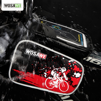 New Mini Bicycle Cycling Frame Pannier Front Tube PVC Material Pouch Pack Case For Cell Phone