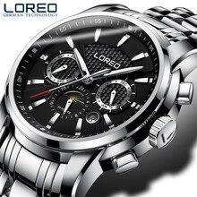 LOREO 2019 мужские часы автоматические механические ролевые Дата модные роскошные брендовые водонепроницаемые часы мужские Reloj Hombre Relogio Masculino