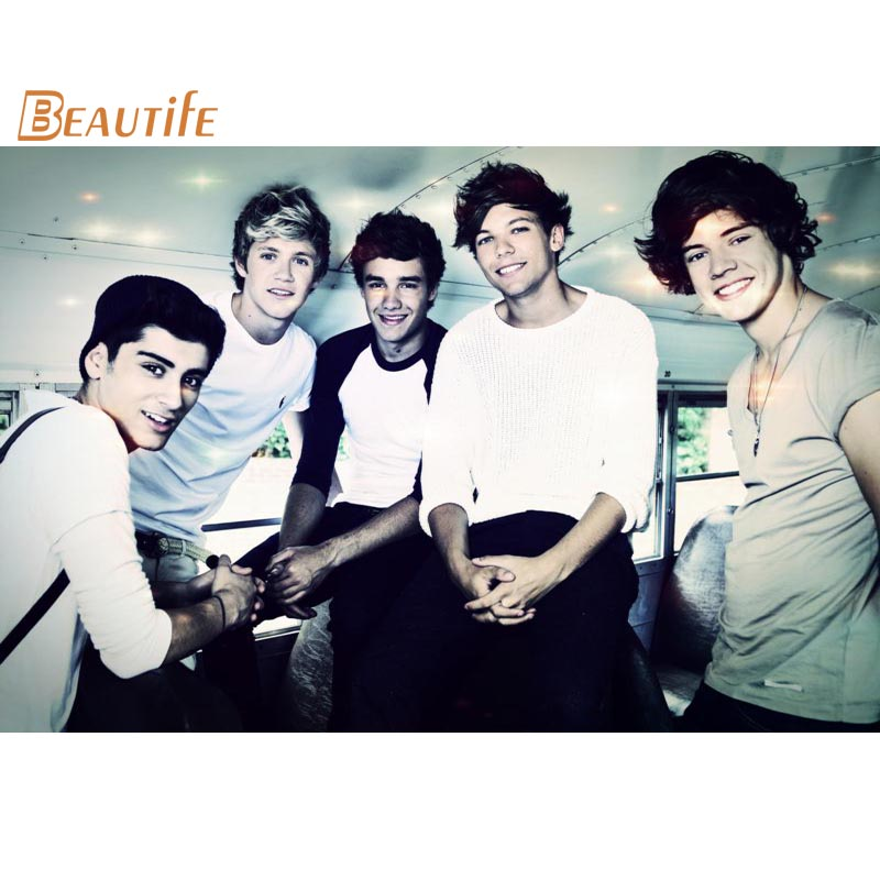 Custom One Direction Poster Home Decoration Fashion Silk Fabric Wall Poster Custom Poster high quality O003
