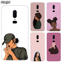 Beautiful Girls Luxury Soft TPU Silicone Phone Back Case For OnePlus 5 5T 6T 6 Frosted Fundas Printed Cover