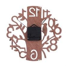 Creative 3D Tree Shape Wooden Wall Clock