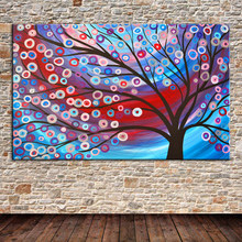 Free Ship 1 Panel Modern Wall Painting Canvas Hand painted Classical Money tree Oil Painting Picture Printed On Canvas unframed(China)