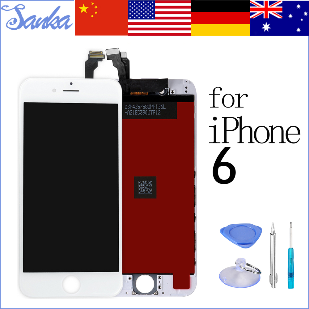 SANKA AAA 4.7 inch For iPhone 6 LCD Display Touch Screen Front Glass Digitizer Assembly Ecran Pantalla Replacement Phone Parts