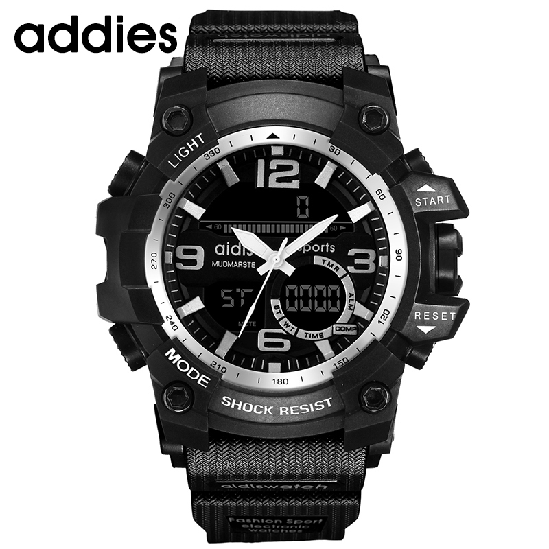 AIDIS Hombres Reloj Militar 30 m Reloj de pulsera Impermeable LED - Relojes para hombres - foto 2