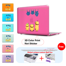 Minions Jeans Crystal Cover Case for Macbook Air 11 13 12 Pro Retina 13 15 Case Hard Shell New 2017 Model Touch Bar A1706 A1707