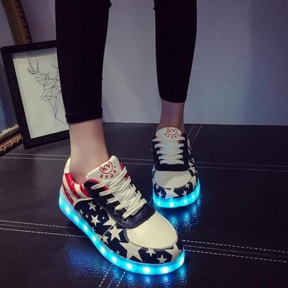 Sapatos Usb Luminosos Tenis Glowing Luz as Para Picture As Dhl Feminino Levaram Pares Sole Com Tênis Led Por 20 Adultos Up Krasovki Picture Chinelos YwnqXxCt