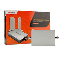 2014 New Sunhans Dual Band 3G Repeater 900MHz 2100MHz Mobile Phone Signal Booster Repeater Amplifier CE