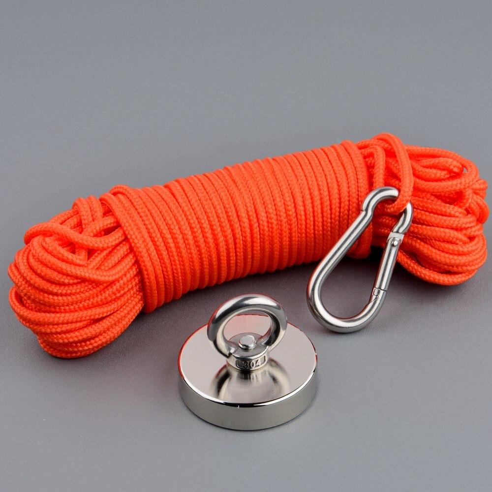 180 кг сильный Неодимовый Постоянный N52 магнит рыболовные магниты дизайн магнит с 20 м веревкой магнитный материал база в подарок