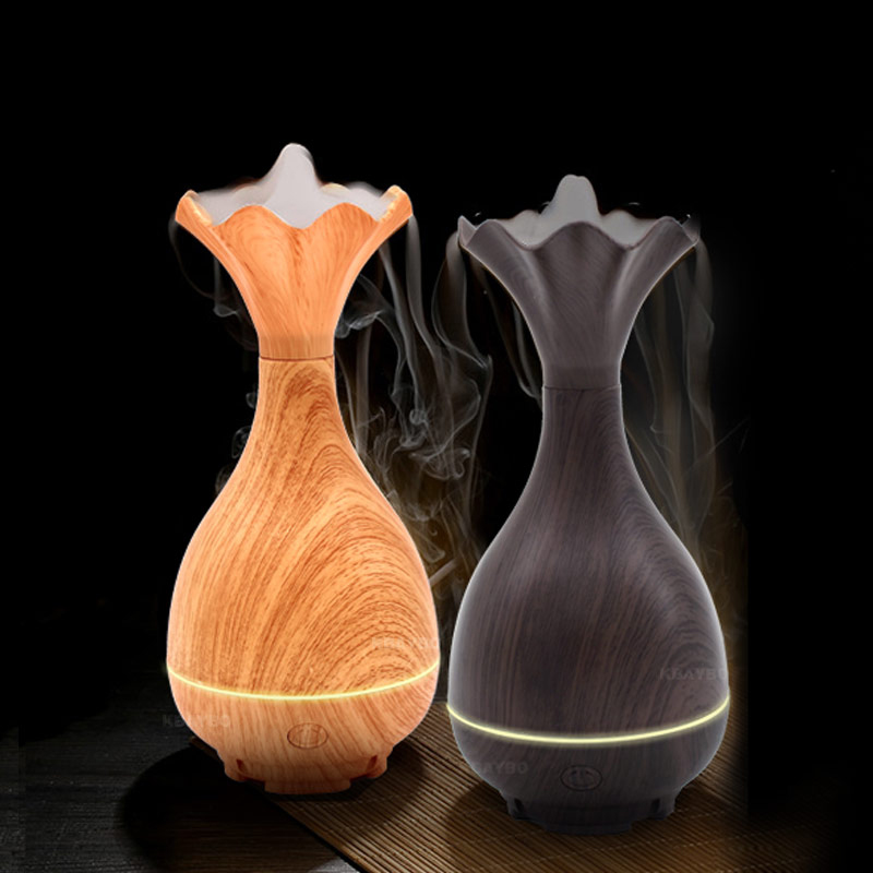 95ml Ultrasonic Aromatherapy Diffuser Wood Grain Ultrasonic Cool Mist Humidifier for Office Home Bedroom Living Room