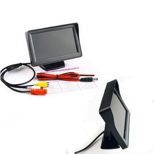 Image 3 - 4.3 Cal Monitor samochodowy Parking kamera cofania LCD TFT wyświetlacz hd pulpit/składany/lustro wideo PAL/NTSC