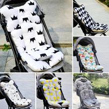 Fashion Baby Soft Stroller Pad Diaper Mat Seat Cover Cotton Baby Carriage Cushion Pillow Mattress Pram Stroller Accessories A2(China)
