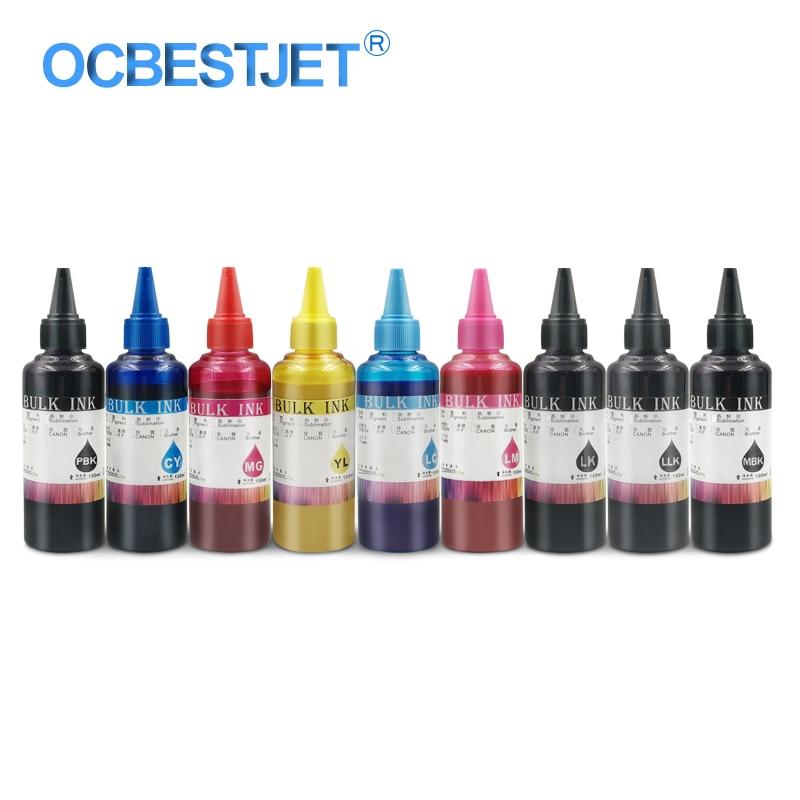 100 ml/bouteille encre pigmentée universelle pour Epson SureColor P600 P800 stylet Pro 3800 3880 7890 imprimante 9 couleurs recharge encre pigmentée