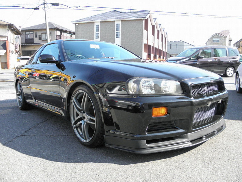 1999-2002 Nissan Skyline R34 GTR OEM標準フロントバンパーボトムリップCF(10)