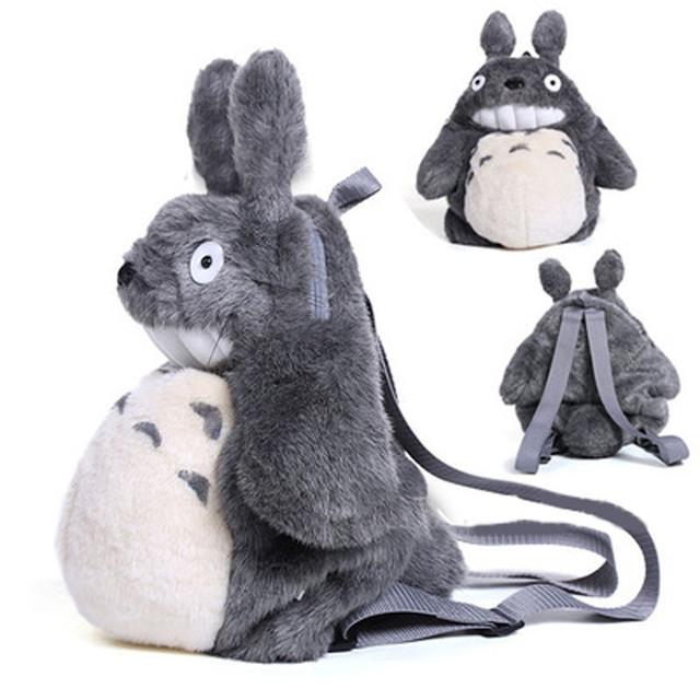 Tamanho grande totoro plush backpack crianças saco de brinquedos Boneca animal Presente o saco de escola do jardim de Infância Para Crianças Mochila Infantil