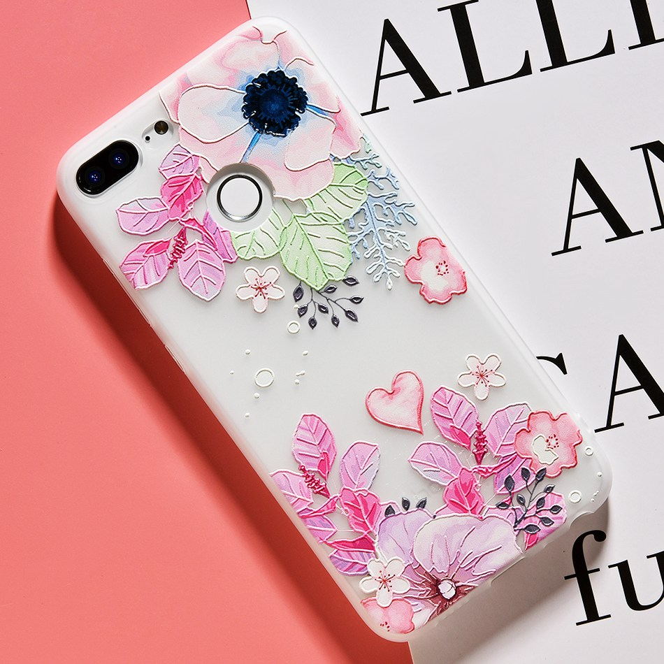 3D Relief Flower TPU Case For On Honor 9 9 lite Soft Silicone Case Back Cover Case for Huawei P20 P10 lite NOVA 2 Case           (25)