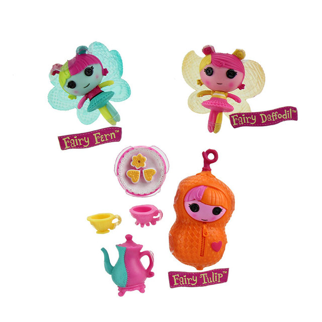 3Inch Original MGA Lalaloopsy Dolls With The Accessories, Mini Dolls For Girl's Toy Playhouse Each Unique