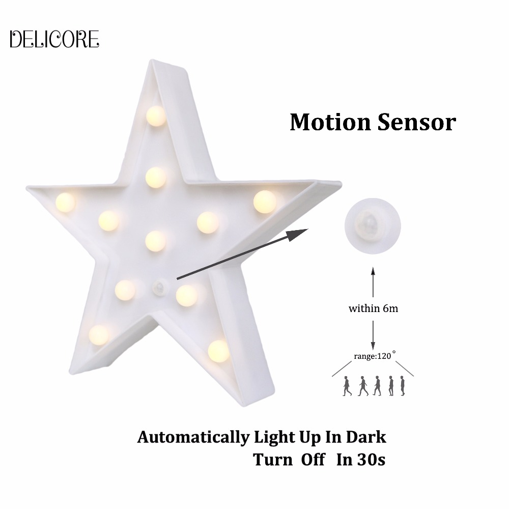 DELICORE Star Shape Toilet Lamps Motion Sensor Night Light LED Lamps Indoor Lighting Battery Operated Table Lamp kids room decor romantic heart star cloud lamps 3d led table night light battery operated home indoor bedroom party decoration kids gifts