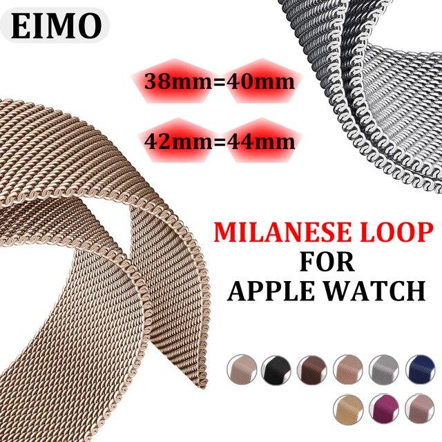ממילאנו לולאה רצועת עבור apple watch להקת apple watch 4/3 iwatch להקת 42mm/38mm 44mm/40mm קוראת pulseira apple watch אבזרים