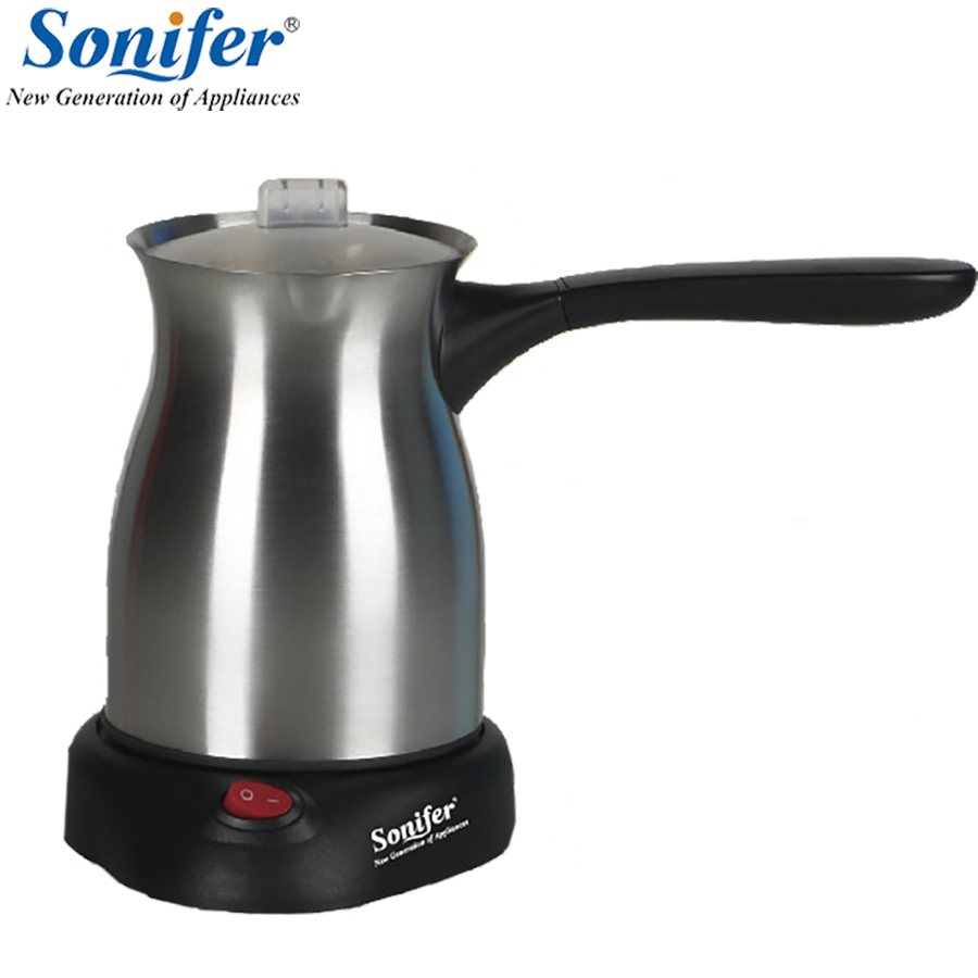 Original Stainless Steel Coffee Machine Turkey Coffee Maker Electrical Coffee Pot Coffee Kettle Sonifer portable turkey coffee maker electrical stainless steel coffee pot food grade 360 degree rotate coffee kettle 250 ml
